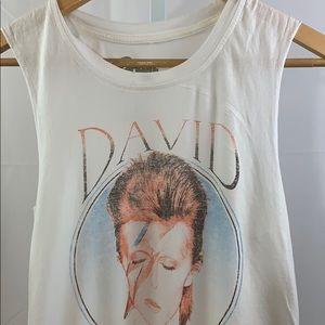 DAVID BOWIE Ziggy Stardust Tank White SZ M